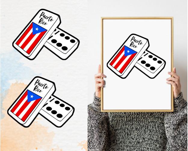 Puerto Rico Flag Svg, San Juan Island Country National, Rican Dominoes, Nation Symbol Svg