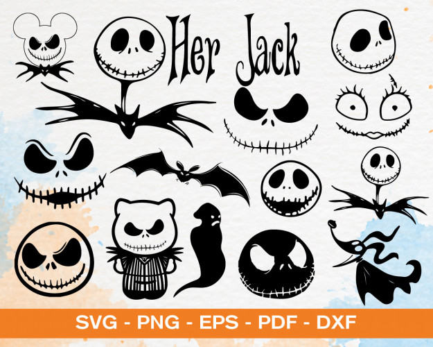 Nightmare Before Christmas SVG Bundle, Jack Skellington, Jack And Sally Svg, Nightmare Christmas Svg