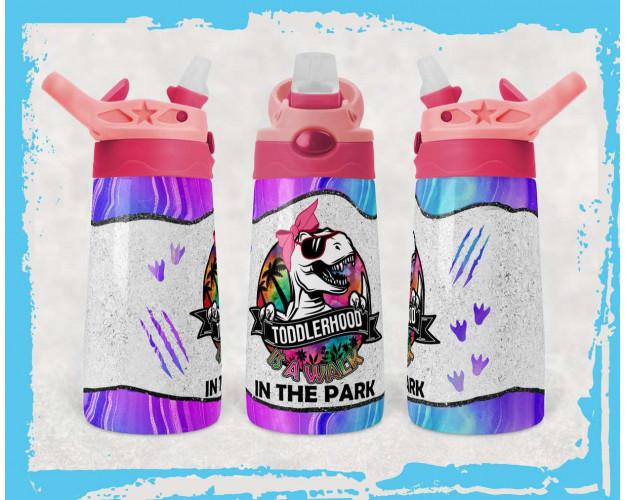 Kids Water Bottles Sublimation Design