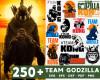 Team Godzilla SVG 250+ Bundle, Godzilla Cricut, Godzilla Clipart