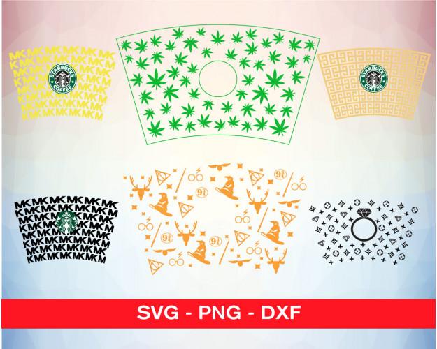 Starbucks Cup Wrap SVG 50+ Bundle, Starbucks Cricut, Cup Clipart
