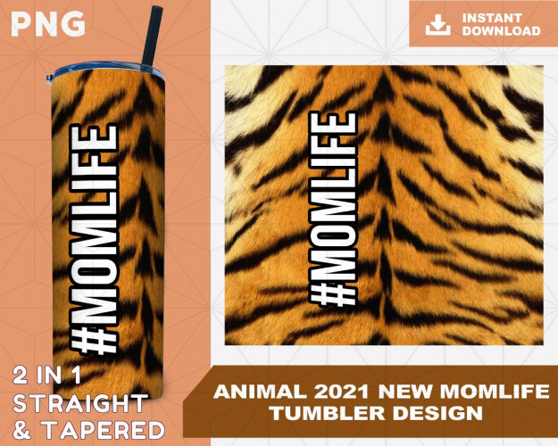 Animal 2021 NEW Wrap Tumbler Sublimation Designs, Tumbler for Straight Tapered Tumbler PNG