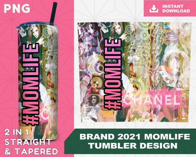 Brand MOMLIFE Wrap Tumbler Sublimation Designs, Tumbler for Straight Tapered Tumbler PNG