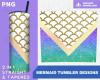 Mermaid NEW Tumbler Sublimation Designs Teal Purple Png File Digital Download