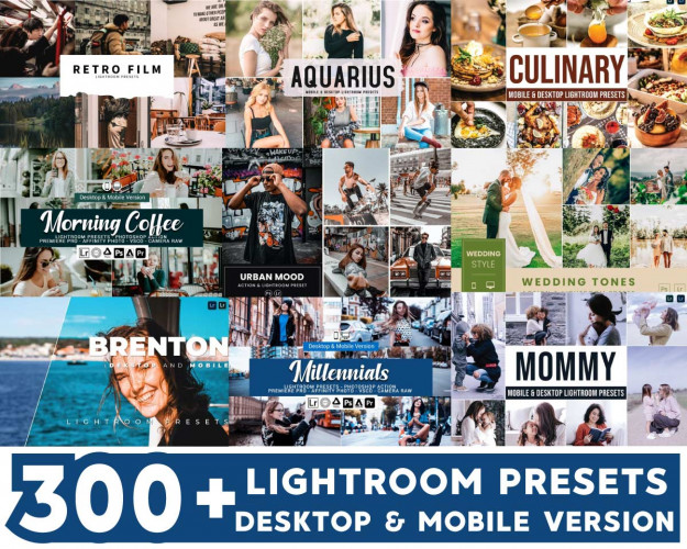 Lightroom Presets Bundle 300+