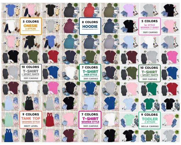 Mockup Bundle 3200+ Hoodies, Sweatshirts, T-Shirts