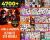 Halloween SVG 4700+ Bundle, Halloween Cricut, Halloween Clipart