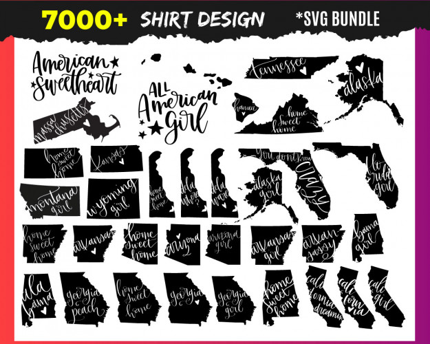 Shirt SVG 7000+ Bundle, Shirt Cricut, Shirt Clipart