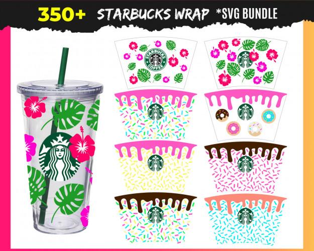 Starbucks Wrap SVG 350+ Bundle, Starbucks Cricut, Starbucks Clipart