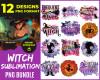 Witch Sublimation PNG Bundle