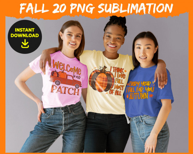 Fall Sublimation PNG Bundle
