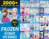 Frozen SVG 2000+ Bundle, Frozen Cricut, Frozen Clipart