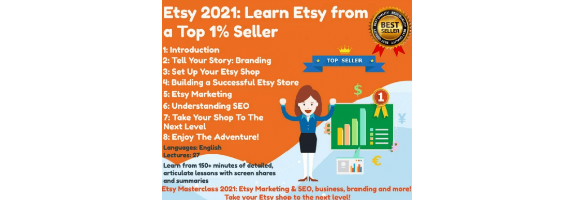 Etsy 2021 Learn Etsy from a Top 1% Seller